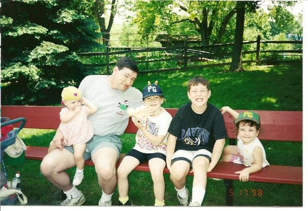 dad and kids summer 1998